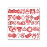 Christmas Gift Square Sticker 3