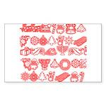 Christmas Gift Sticker (Rectangle 50 pk)