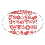 Christmas Gift Sticker (Oval 50 pk)