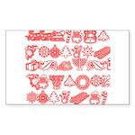 Christmas Gift Sticker (Rectangle)