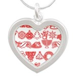 Christmas Gift Silver Heart Necklace