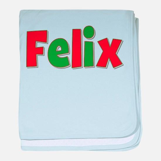Felix Christmas baby blanket