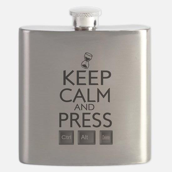 Keep calm Funny IT computer geek humor Flask