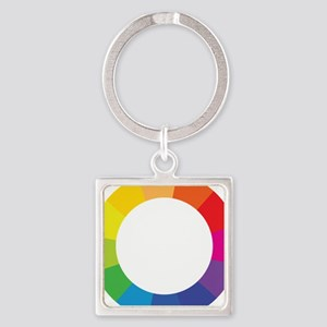 Color Wheel Square Keychain