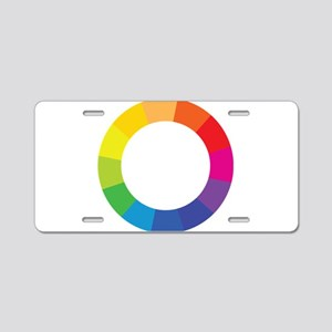 Color Wheel Aluminum License Plate
