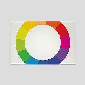 Color Wheel Rectangle Magnet