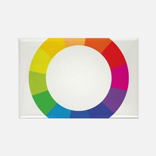 Color Wheel Rectangle Magnet
