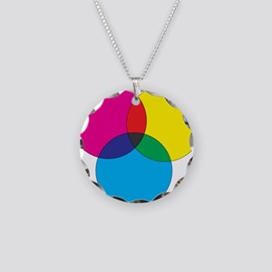 Colors Necklace Circle Charm