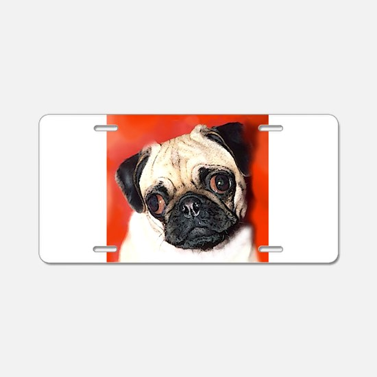 Pug Gifts 1 Aluminum License Plate
