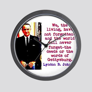 We The Living - Lyndon Johnson Wall Clock
