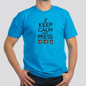 Keep Calm and press control Alt funny Men's Fitted