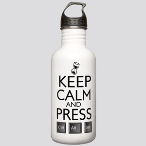 Keep Calm and press control Alt funny Stainless Wa