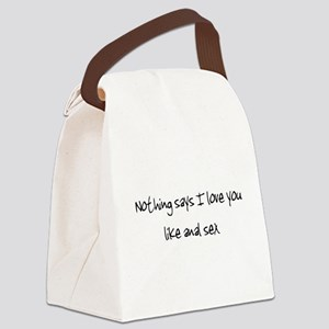 loveanal1 Canvas Lunch Bag