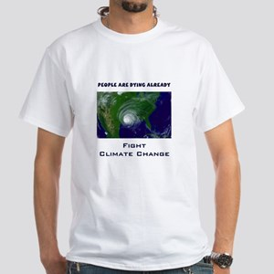 Fight Climate Change Hurricane White T-Shirt