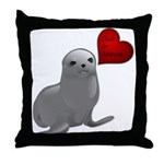 Baby Seal Club and Release Throw Pillow