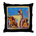 Afghan Hounds Throw Pillow