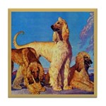 Afghan Hounds Tile Coaster