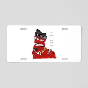 ski boot Aluminum License Plate