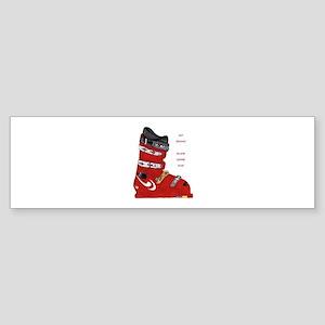 ski boot Sticker (Bumper)