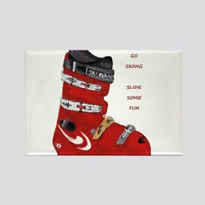 ski boot Rectangle Magnet