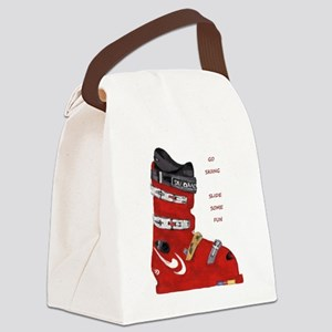ski boot Canvas Lunch Bag