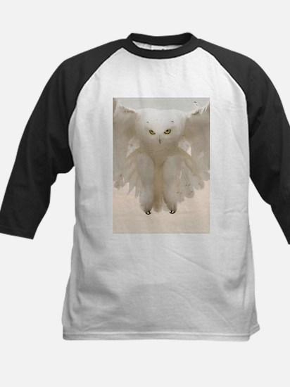 Ghost Owl Kids Baseball Jersey
