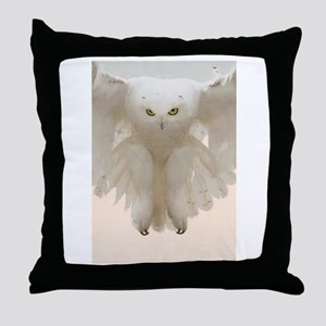 Ghost Owl Throw Pillow
