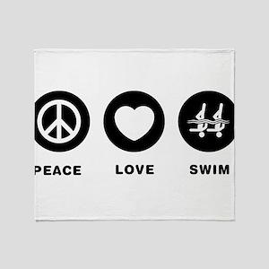 Synchronized Swimming Throw Blanket