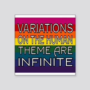 Variations On Humanness Sticker