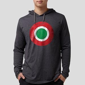 Italy Roundel Cracked Mens Hooded Shirt