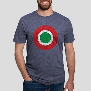 Italy Roundel Cracked Mens Tri-blend T-Shirt