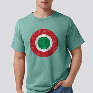 Italy Roundel Cracked.pn Mens Comfort Colors Shirt