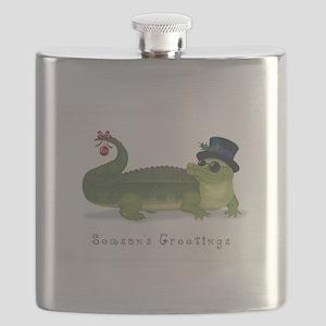 Christmas Alligator Flask