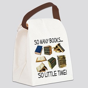 So Many Books... Canvas Lunch Bag