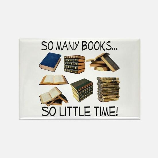 So Many Books... Rectangle Magnet
