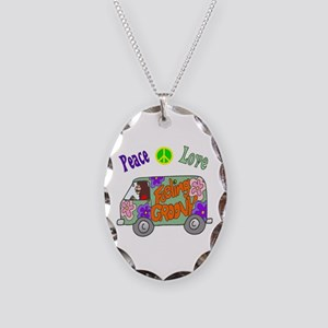 Groovy Van Necklace Oval Charm