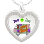 Groovy Van Silver Heart Necklace