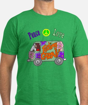 Groovy Van Men's Fitted T-Shirt (dark)