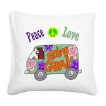 Groovy Van Square Canvas Pillow