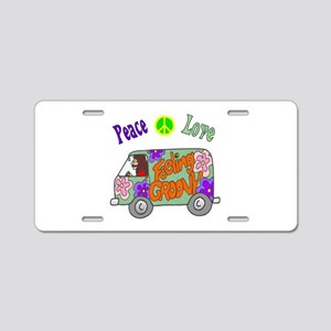 Groovy Van Aluminum License Plate
