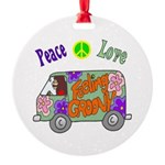Groovy Van Round Ornament