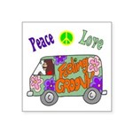 "Groovy Van Square Sticker 3"" x 3"""