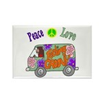 Groovy Van Rectangle Magnet (10 pack)