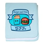 Burger and Fries BFFs baby blanket