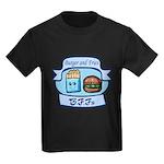 Burger and Fries BFFs Kids Dark T-Shirt