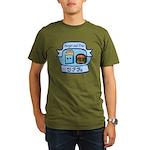 Burger and Fries BFFs Organic Men's T-Shirt (dark)