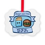 Burger and Fries BFFs Picture Ornament