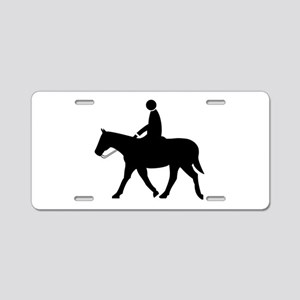 Horse With Rider Aluminum License Plate