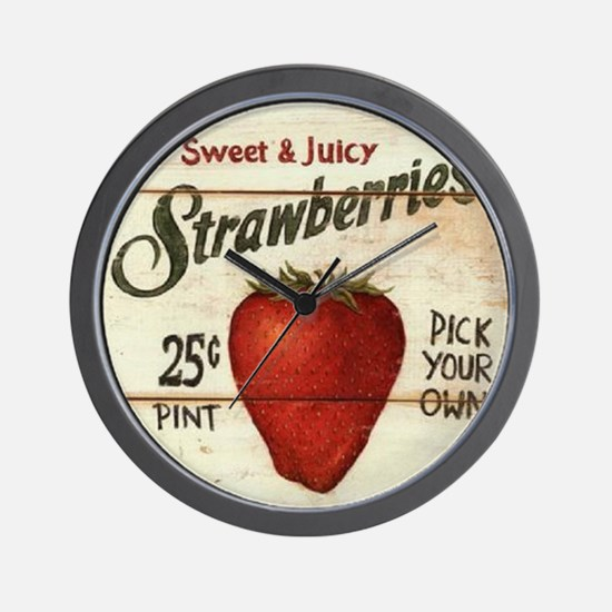 Unique Strawberries Wall Clock