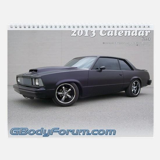 2013 GBodyForum.com Calendar Vol. 3 (11x8.5)